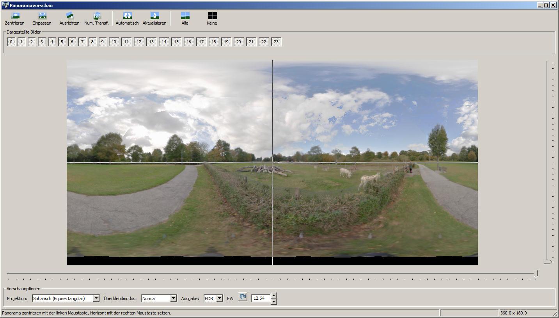 Hugin 360 panorama erstellen
